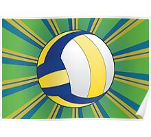 Volleyball Ball Background 3 Poster