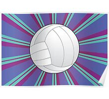 Volleyball Ball Background 4 Poster