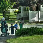 An Amish Family by Dyle Warren