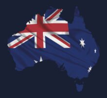 Australia Flag Map Kids Clothes