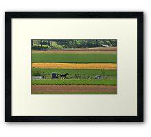 Amish Farmland Framed Print