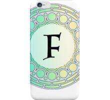 F Pastel Circle iPhone Case/Skin