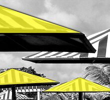 Yellow Parasols by Carole Boudreau