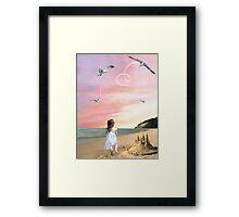 Once upon a sandcastle Framed Print
