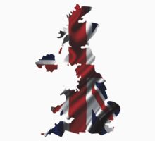 UK United Kingdom Flag Map by vintage-shirts