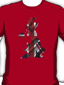 UK United Kingdom Flag Map T-Shirt