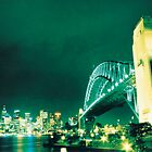 Sydney Harbour Bridge - Cross Processed by Sean Pinwill