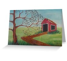 Springtime Barn Greeting Card
