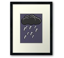 Raining Bullets Framed Print