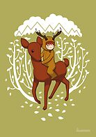 Deer Rider by lisamax