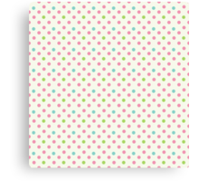 Vintage pattern with polka dots Canvas Print