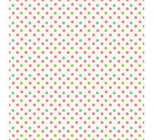 Vintage pattern with polka dots Photographic Print