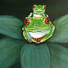 Green Tree Frog with a stow-a-way by Sooty6