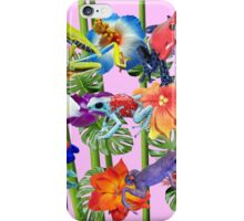 Tropical Frogs Frenzy  iPhone Case/Skin