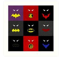 Minimalist Bat Family Art Print