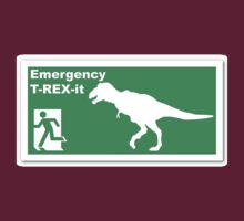 Emergency T-rex-it by TeeArt