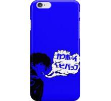 Cowboy Bebop - Havin' a Smoke (Blue) iPhone Case/Skin