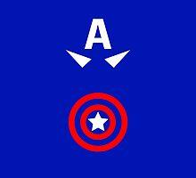 Minimalist Captain America by Ryan Heller