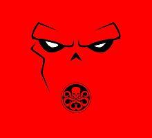 Minimalist Red Skull by Ryan Heller
