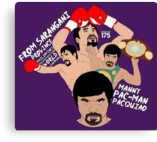 Manny Pacquiao - Ring Announcement Canvas Print