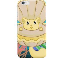 Clam Me-owder (Yellow) iPhone Case/Skin