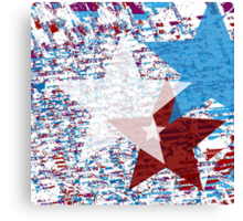 Red, White, and Blue Stars Canvas Print