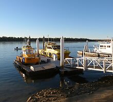 Sea Rescue & Lifeguard Boats at Wharf, Tin Can Bay. Qld. Aust. by Rita Blom