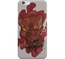 Japanese Style Foo Dog Tattoo Design iPhone Case/Skin