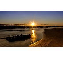 Sunset at St Andrew Beach Photographic Print