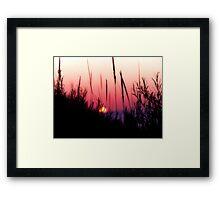 Sunset in Beach Grass II Framed Print