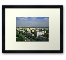 Moscow skyline in summer  Framed Print