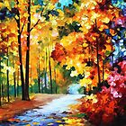 Red Fall — Buy Now Link - www.etsy.com/listing/227967853 by Leonid  Afremov