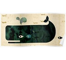 Whale on Whaler's log Poster