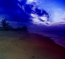 Blue Moons Beach by AlienVisitor