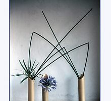 Ikebana-002 Greeting Card by Baiko
