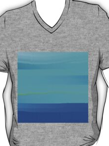 Impressions in teal and blue T-Shirt