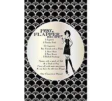 Gatsby Girl Recipe To Be A 1920s Flapper Girl (in black silver & pearl) Photographic Print