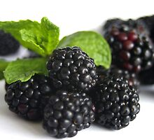 Blackberries and Mint  by DiEtte Henderson