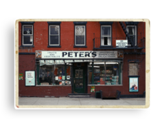 Peter's Bodega in the Lower East Side - Kodachrome Postcards  Canvas Print