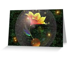 Lily in space Greeting Card