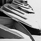 Row Boats Stored For The Winter by Marjorie Smith