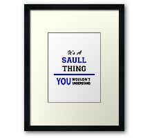 It's a SAULL thing, you wouldn't understand !! Framed Print