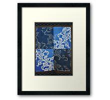 Japanese Quilt made from skirt Framed Print