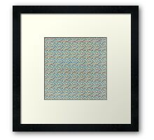 Silvery abstract design Framed Print