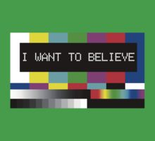 I want to believe - TV Kids Clothes