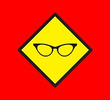 YELLOW WARNING sign glasses by jazzydevil