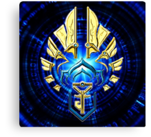 Ingress - Resistance BLUE Gold Coast Canvas Print