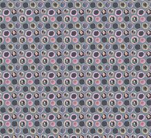 Tribal Circles Pattern by Louise Norman