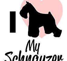 i heart my schnauzer by teeshoppy
