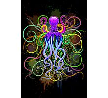 Octopus Psychedelic Luminescence Photographic Print